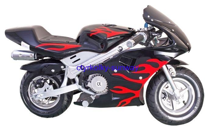 Minibike 49cc red flame
