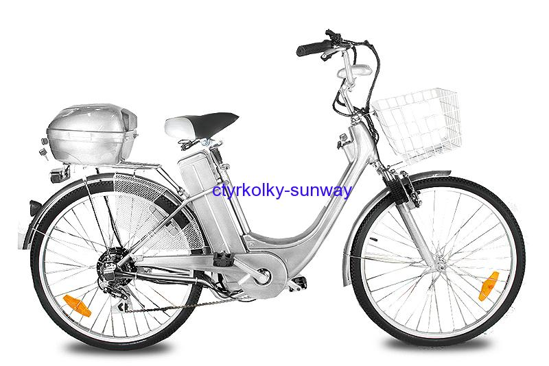 "Elektrokolo city bike 26"" 250 Wattů silver"