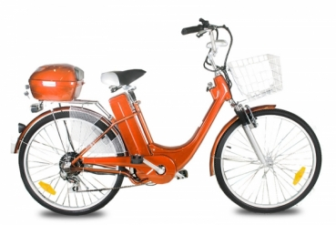 "Elektrokolo city bike 26"" 250 Wattů orange"
