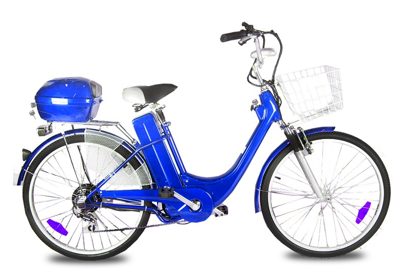 "Elektrokolo city bike 26"" 250 Wattů blue"