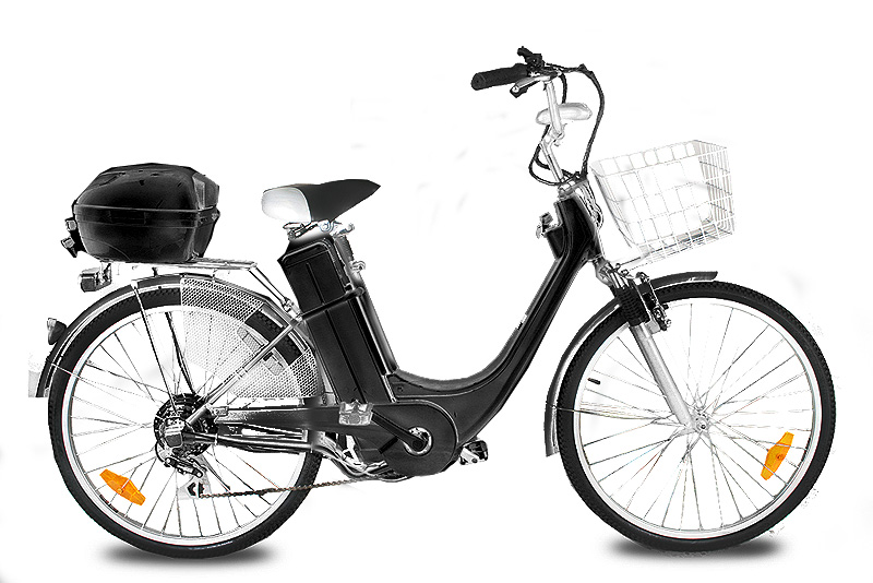 "Elektrokolo city bike 26"" 250 Wattů black"
